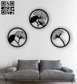Flower wall decor E0013326 file cdr and dxf free vector download for laser cut