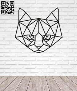 Geometric Cat E0013441 file cdr and dxf free vector download for laser cut plasma