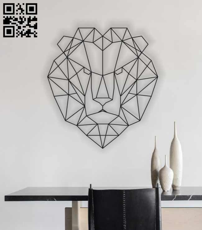 Geometric Lion E0013427 file cdr and dxf free vector download for laser cut plasma