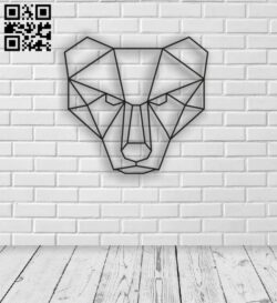 Geometric Lion E0013440 file cdr and dxf free vector download for laser cut plasma