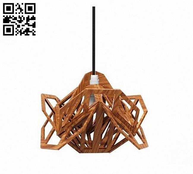 Geometric lamp E0013236 file cdr and dxf free vector download for laser cut