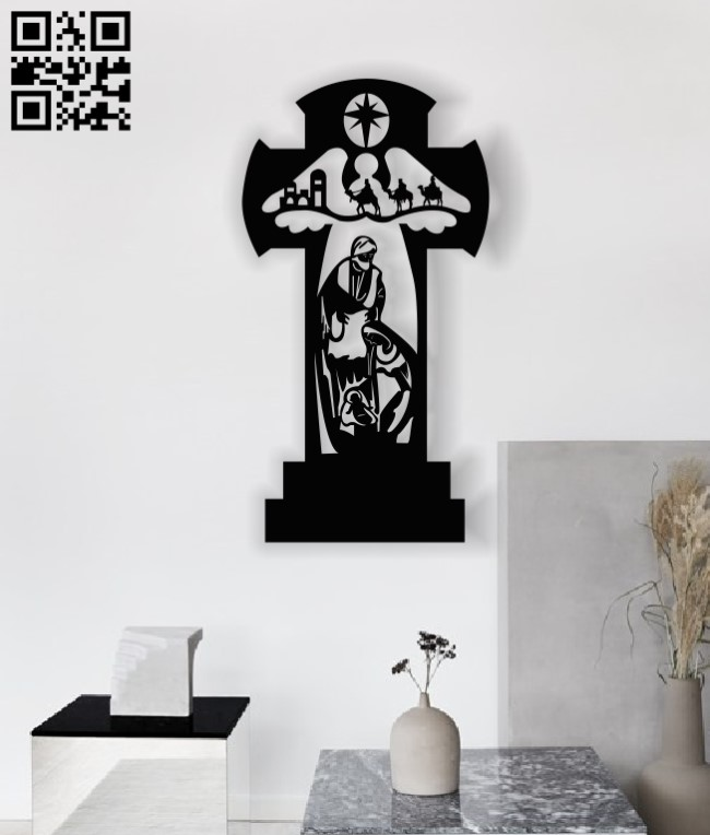 God with the cross E0013424 file cdr and dxf free vector download for laser cut plasma