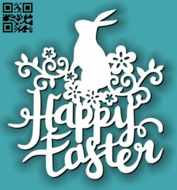 Happy easter eggs E0013410 file cdr and dxf free vector download for laser cut plasma