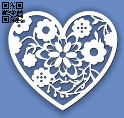 Heart E0013316 file cdr and dxf free vector download for laser cut