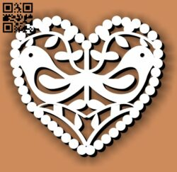 Heart E0013318 file cdr and dxf free vector download for laser cut