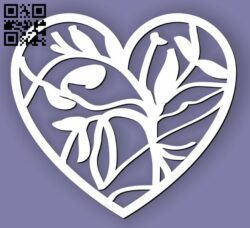 Heart E0013338 file cdr and dxf free vector download for laser cut