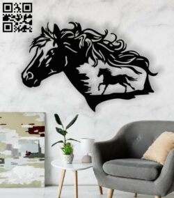 Horse E0013422 file cdr and dxf free vector download for laser cut plasma