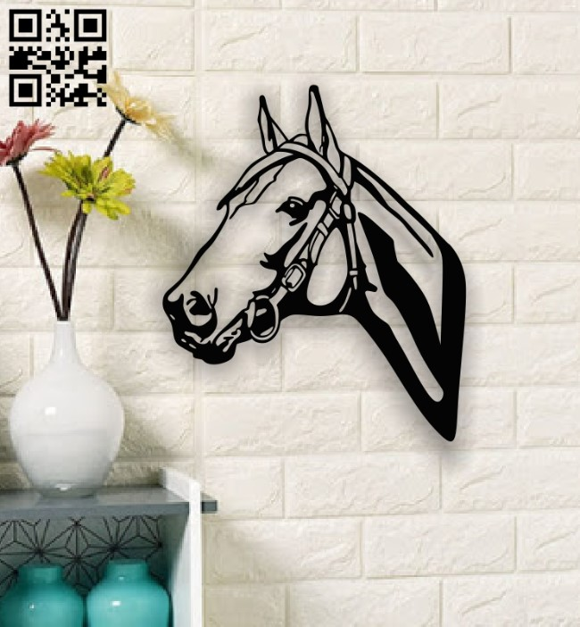 Horse wall decor E0013442 file cdr and dxf free vector download for laser cut plasma