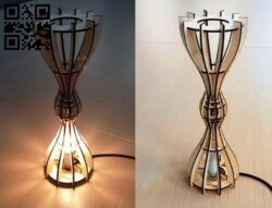Hourglass lamp E0013237 file cdr and dxf free vector download for laser cut