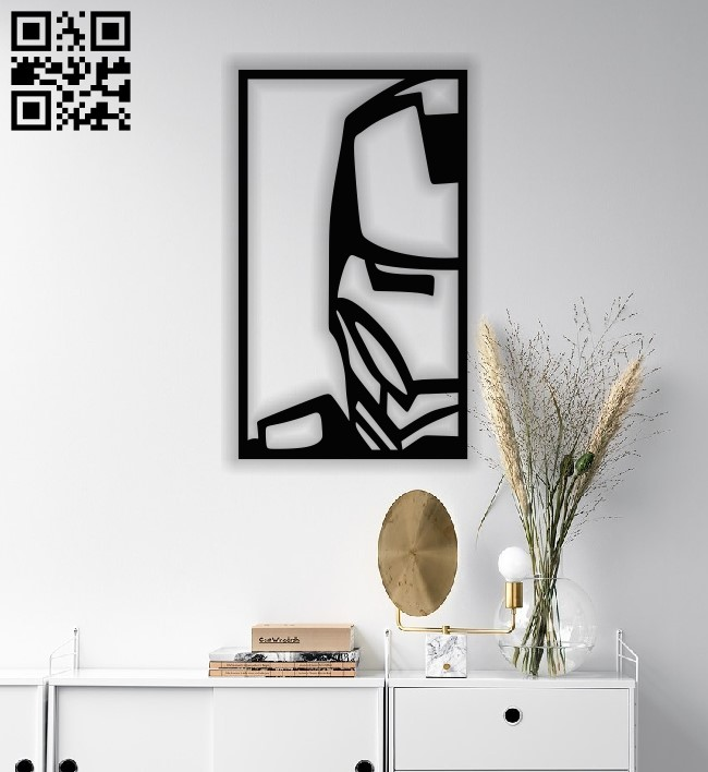 Iron man face E0013300 file cdr and dxf free vector download for laser cut plasma