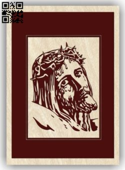 Jesus Christ E0013417 file cdr and dxf free vector download for laser engraving machine