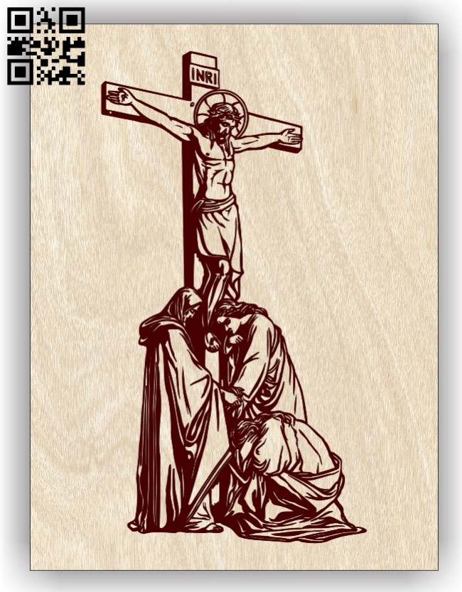 Jesus E0013321 file cdr and dxf free vector download for laser engraving machines