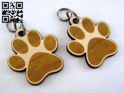 Key chain E0013445 file cdr and dxf free vector download for laser cut