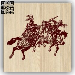 Knight E0013244 file cdr and dxf free vector download for laser engraving machines