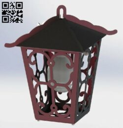 Lantern E0013377 file cdr and dxf free vector download for laser cut plasma