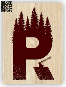 Letter R art E0013455  file cdr and dxf free vector download for laser engraving machines