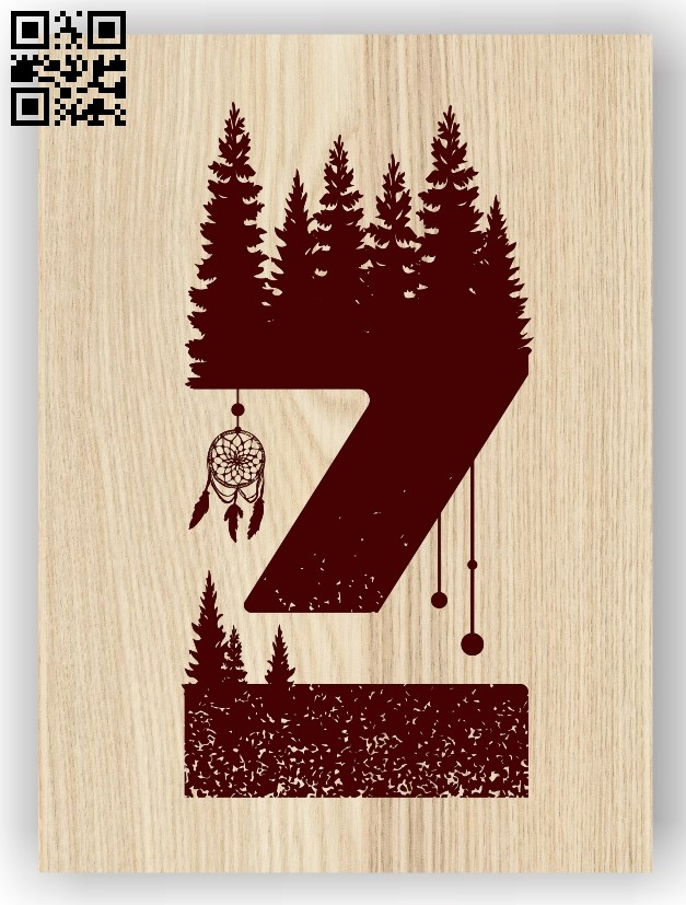 Letter Z art E0013463 file cdr and dxf free vector download for laser engraving machine