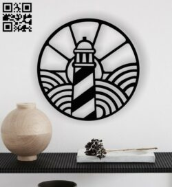 Lighthouse wall decor E0013334 file cdr and dxf free vector download for laser cut plasma