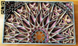 Mandala E0013495 file cdr and dxf free vector download for laser cut