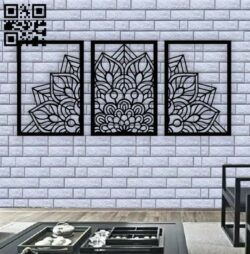 Mandala wall decor E0013331 file cdr and dxf free vector download for laser cut plasma