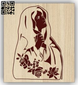 Maria E0013415 file cdr and dxf free vector download for laser engraving machines