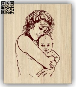Motherhood E0013242 file cdr and dxf free vector download for laser engraving machines