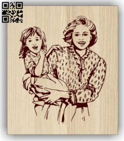 Motherhood E0013243 file cdr and dxf free vector download for laser engraving machines