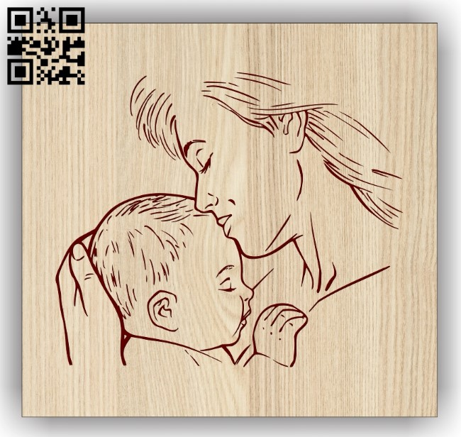 Motherhood E0013320 file cdr and dxf free vector download for laser engraving machines