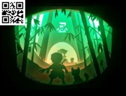 Ninja light box E0013293 file cdr and dxf free vector download for laser cut