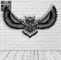 Owl E0013378 file cdr and dxf free vector download for laser cut plasma