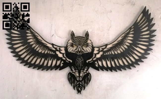 Owl wall decor E0013403 file cdr and dxf free vector download for laser cut plasma