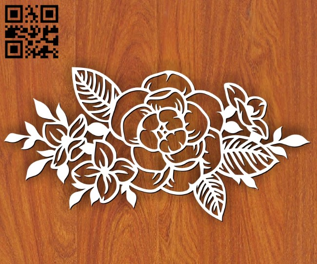 Peony E0013315 file cdr and dxf free vector download for laser cut
