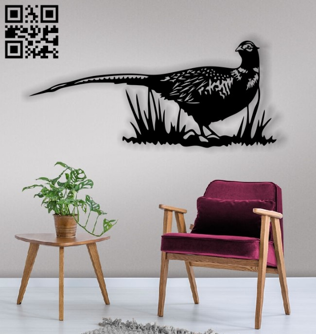 Pheasant E0013217 file cdr and dxf free vector download for laser cut plasma