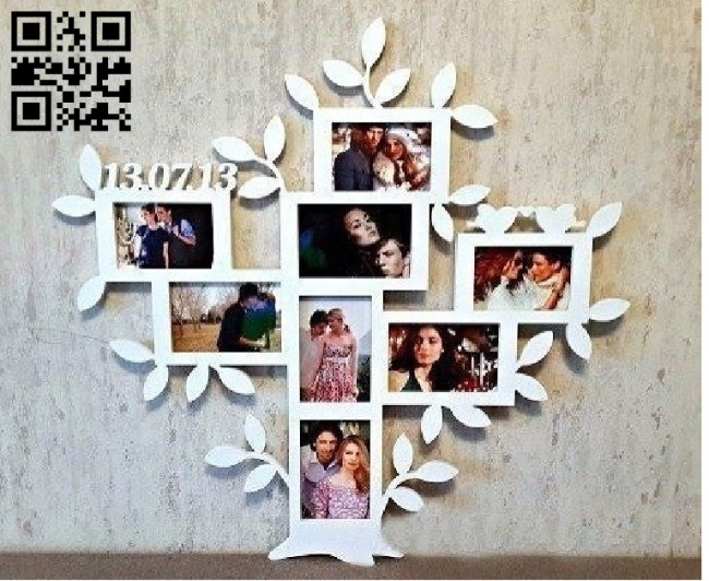 Photo frame E001360 file cdr and dxf free vector download for laser cut
