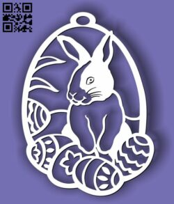 Rabbit with easter eggs E0013408 file cdr and dxf free vector download for laser cut plasma