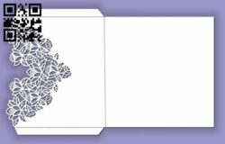 Rectangular flower envelope E0013478 file cdr and dxf free vector download for laser cut