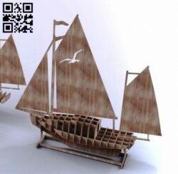 Sailboat E0013304 file cdr and dxf free vector download for laser cut