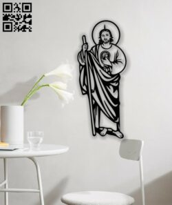 Saint Jude E0013484 file cdr and dxf free vector download for laser cut