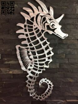 Seahorse E0013343 file cdr and dxf free vector download for laser cut plasma