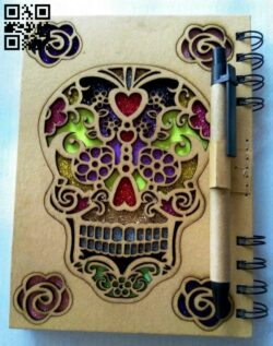 Skull book cover E0013430 file cdr and dxf free vector download for laser cut