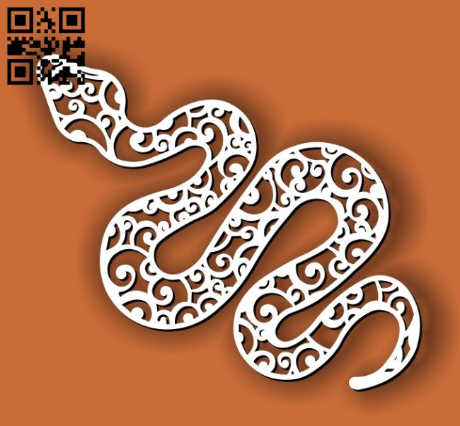 Snake E0013404 file cdr and dxf free vector download for laser cut plasma