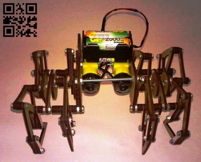 Spider robot E0013238 file cdr and dxf free vector download for laser cut