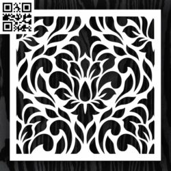 Square decoration E0013347 file cdr and dxf free vector download for laser cut