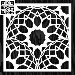 Square decoration E0013348 file cdr and dxf free vector download for laser cut
