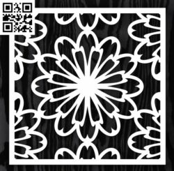 Square decoration E0013349 file cdr and dxf free vector download for laser cut