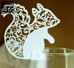Squirrel cup accessories E0013437 file cdr and dxf free vector download for laser cut
