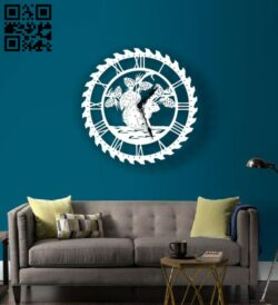 Squirrel wall clock E0013379 file cdr and dxf free vector download for laser cut plasma