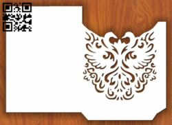 Swans invitation card E0013447 file cdr and dxf free vector download for laser cut