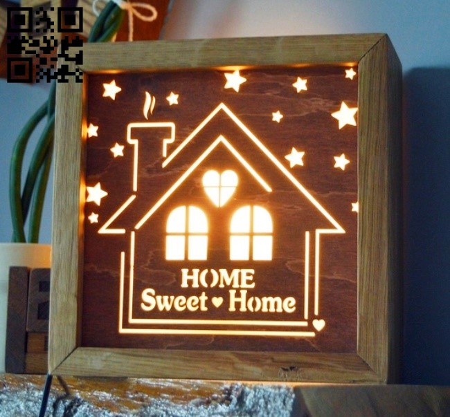 Sweet home lamp E0013267 file cdr and dxf free vector download for laser cut