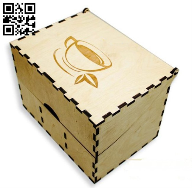 Tea box E0013355 file cdr and dxf free vector download for laser cut